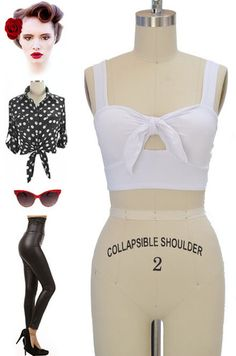 Just restocked at Le Bomb Shop! Find them here: http://www.ebay.com/itm/50s-Style-BOMBSHELL-Pinup-Solid-WHITE-Bandeau-CROP-Top-TIE-BUST-Keyhole-/121124695441?pt=US_CSA_WC_Shirts_Tops==item61d2bacd7a
