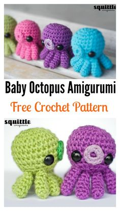 Crochet Baby Octopus Amigurumi FREE Pattern