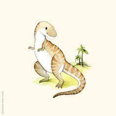 T-Rex print, Dinosaur poster, Dinosaur art, Dinosaur painting, Dinosaur wall art, Boys room, watercolor dinosaur, T is for tyrannosaurus