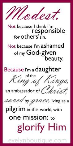 teaching modesty handouts - Google Search
