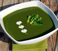 Vellutata di spinaci, semplice, genuina, facile da preparare. Calorie totali: 814 Kcal / Calorie a porzione: 271 Kcal