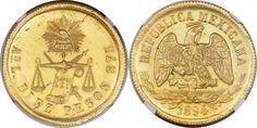 Republic gold 10 Pesos 1894 As-L