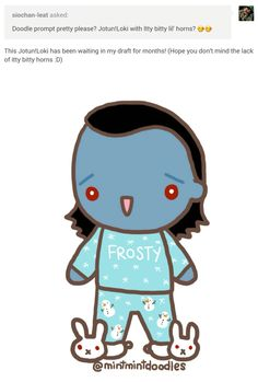 ♪ Frosty the Loki ♪  #loki #jotunloki #tomhiddleston #mintmintdoodles