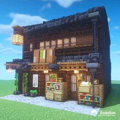 Minecraft Shops, Minecraft Blocks, Minecraft House Tutorials, Minecraft House Designs, Minecraft Construction, Minecraft Tutorial, Minecraft Creations, Minecraft Cabin, Minecraft Activities