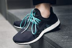 best loved 48288 072b3 2016 adidas Pure boost X mujer Negro Verde Corriendo Zapatos AQ6681 en  stock Adidas Pure Boost