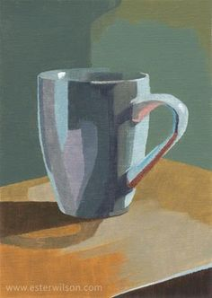 "Daily Paintworks - ""A cup"" - Original Fine Art for Sale - © Ester Wilson Painting Still Life, Still Life Art, Coffee Cup Photo, Coffee Cups, Quirky Art, Expressive Art, Fine Art Gallery, Watercolor Illustration, Art Techniques"