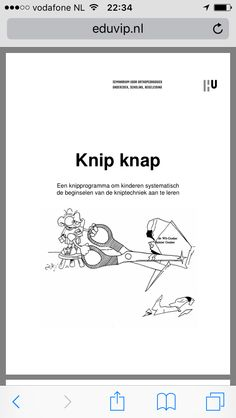PDF about the development of cutting – Knippen Learning Support, Occupational Therapy, Special Needs, Fine Motor Skills, Wasting Time, More Fun, Save Yourself, In The Heights, Teaching