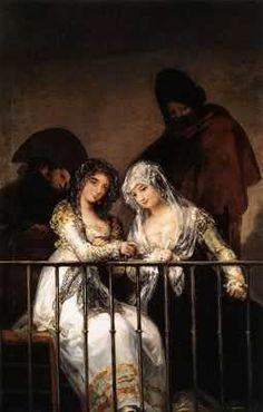 Les mariées au balcon, par Francisco Goya