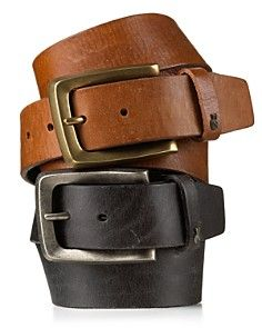John Varvatos USA Solid Strap Belt