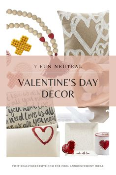 I'm all for more Neutral Decor and I love these 7 Neutral Valentine's Day Decor.