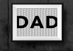 Dad Poster For Dad Graphic Poster Printable by HearMeRoarQuotes