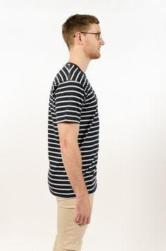 Staple Stripe Tee - Navy/White - BAAM Labs - 2
