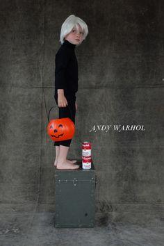 Andy Warhol Frida and Van Gogh kids Costumes. Cute Costumes, Creative Halloween Costumes, Halloween Crafts, Costume Ideas, Halloween History, Halloween Stuff, Andy Warhol, Bob Ross, Holidays Halloween