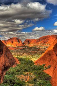Australian desert Northern Territory - Kata tjuta (Olgas) near Uluru, NT. Outback Australia, Australia Travel, Aussie Australia, Coast Australia, Visit Australia, Western Australia, Places Around The World, Around The Worlds, Beautiful World