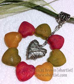 """Gumdrops of Love"" #mixedmedia pendant by Susan M. Brown {sbartist} created using Amazing #MoldPutty. www.amazingmoldputty.com"
