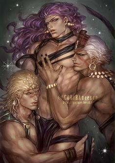 Pillar Men (Kars,Wham,ACDC) [from tumblr]