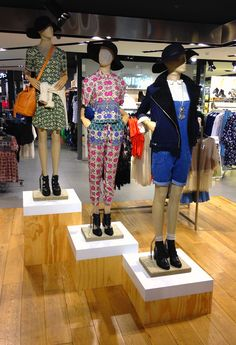 Folk Law styling at TOPSHOP Chapel st Melbourne