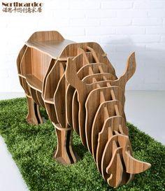 Rhino mesa rompecabezas con cajón para living room decor, diy montado mesa de los animales, muebles animales creativo, rinoceronte estante estante decoración del hogar en Otros Muebles de Hogar de Muebles en AliExpress.com | Alibaba Group