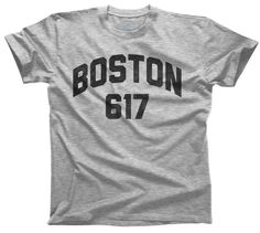 Men's Boston 617 Area Code T-Shirt