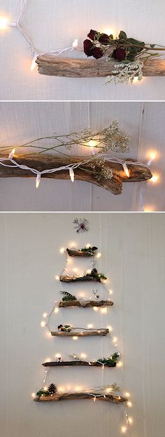 DIY Creative Christmas Lights! • Great Ideas and Tutorials! Including, from 'free people' this fantastic diy alternative Christmas tree project.