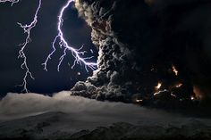 Ash and Lightning Above Eyjafjallajökull Volcano, Iceland    April 17, 2010    Image Credit & Copyright: Marco Fulle