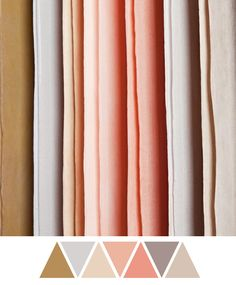 WEIRD these are like my EXACT colors...wedding color combination: pink/salmon, gray, gold, silver @Kristi Allen