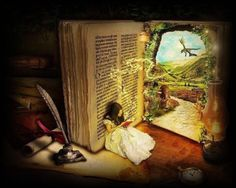 Imagination - books lead us to imagining even greater things... God's love letter to us leads us to even greater things...