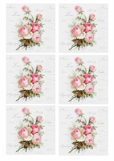 Decoupage Vintage, Vintage Paper, Vintage Art, Decoupage Printables, Free Printables, 3d Prints, Vintage Labels, Vintage Flowers, Vintage Images