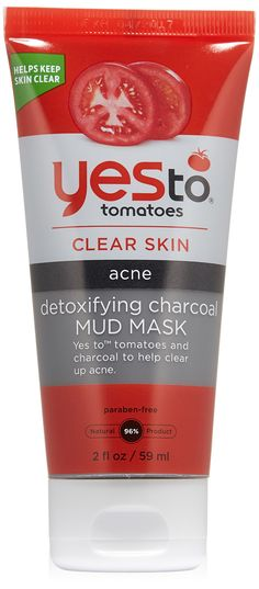Yes to Tomatoes Detoxifying Charcoal Mud Mask, 2 Ounce