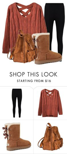 Winter Outfit #2 by nschlesselman on Polyvore featuring Boohoo, UGG and Yves Saint Laurent