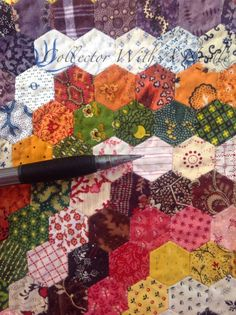 Half-inch Hexagon Charm Quilt at Collector With A Needle: New Finish