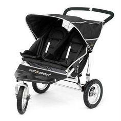 Criando múltiples: Carros gemelares: Out 'n about . La marca inglesa Out 'n About tiene una silla de paseo doble todoterreno, la Nipper 360.