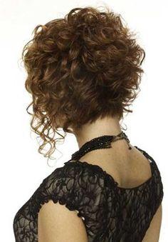 Lockige Dauerwelle für kurzes Haar-24