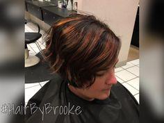 #hairbybrooke #balayage #chocolate #warmtones #shorthair #blendedcolor