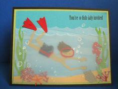 Under the Sea Birthday party Invitations.