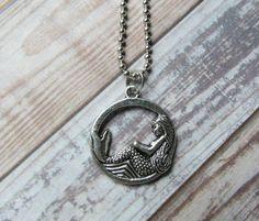 mermaid necklace  mermaid pendant  sea creature by mizzoktober, $7.95