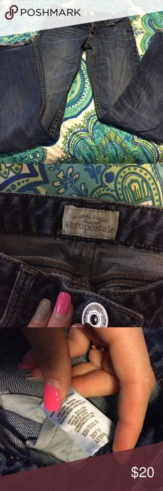 Again, I have no room in my closet for these. These are Hailey Flares from Aeropostale.  I have simply outgrown them.  They still have a lot of wear left in them. In need of a wonderful home.  They are very comfy jeans. Aeropostale Jeans Flare & Wide Leg