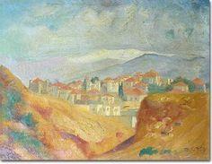 Beirut (1923) - Omar Onsi His Travel, Beirut, Middle East, Impressionist, Oriental, African, Paintings, Gallery, Art