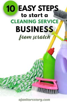 How to start a professional house and commercial janitorial cleaning service business in 10 easy steps. Digital FILLABLE workbook with cleaning business forms included! #ajanitorsstory Building Cleaning Services, Office Cleaning Services, Professional Cleaning Services, Laundry Business, Cleaning Business, Cleaning Checklist, Cleaning Hacks, Janitorial Cleaning Services, House Cleaning Company