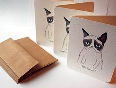 Hand-drawn Valentines (from a grumpy cat). $24.00, via Etsy.