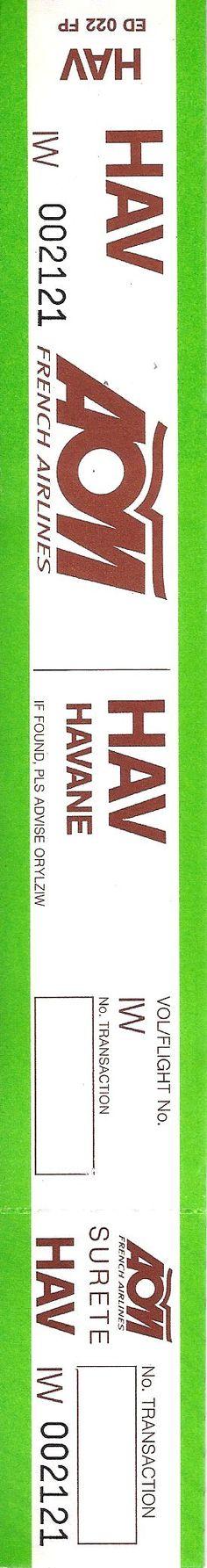Aom French Airline HAV - La Havane Luggage Tag