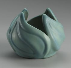 AMERICAN POTTERY VASE   Van Briggle I have this one with a much more pronounced blue/green coloration.