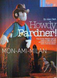 for knitting instructions. moreAlan Dart patterns and many others. this is for a knitting pattern (instructions). Craft Patterns, Knitting Patterns, Alan Dart, Modern Toys, Stuffed Toys Patterns, Cross Stitch, Crochet Hats, Dolls, Sewing