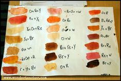 How To Create Skin Tones With Watercolor Paints. Color Mixing with Children via Wonder Teacher Watercolor Skin Tones, Watercolor Mixing, Watercolor Tips, Watercolour Tutorials, Watercolor Portraits, Watercolor Techniques, Watercolour Painting, Watercolors, Painting Techniques
