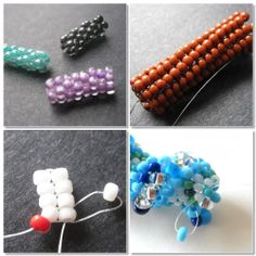 Inspirational Beading: Beading Tutorials - how to for techniques + links for ideas