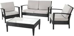 Piscataway Outdoor Four Piece Lounge Set