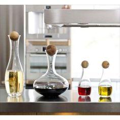Oval Oak — zestaw dwóch buteleczek na oliwę i ocet, 0,3 l - SAGAFORM - DECO Salon. set of two bottles for #oil and #vinegar #kitchenaccessories #dladomu #kuchnia #giftidea #naprezent