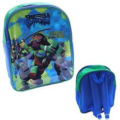 New tmnt #backpack turtle #trouble blue shell shocked back to #school *free p&p,  View more on the LINK: http://www.zeppy.io/product/gb/2/282036701717/