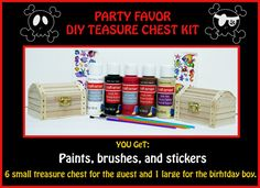 Pirate Party Favor Boxs DIY Treasure Chest Party by TheCrystalTree, $50.00