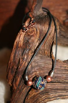 Bali bead necklace by WenJammerCreations on Etsy, $12.00